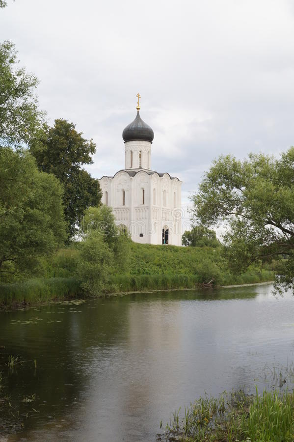 Church Pokrova na Nerli stock images