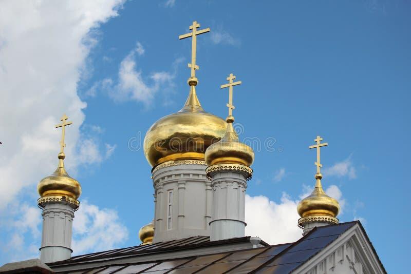 The Church of Prophet Iliya, Nizhny Novgorod. View fron the Kremlin hill on The Church of Prophet Iliya in Nizhny Novgorod royalty free stock photos