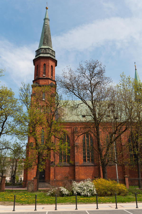 Church in Pruszkow - Poland. Gothic Church St kazimierz in Pruszkow - Poland royalty free stock photos