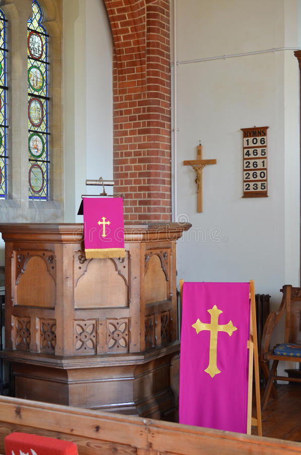 Church pulpit royalty free stock photo
