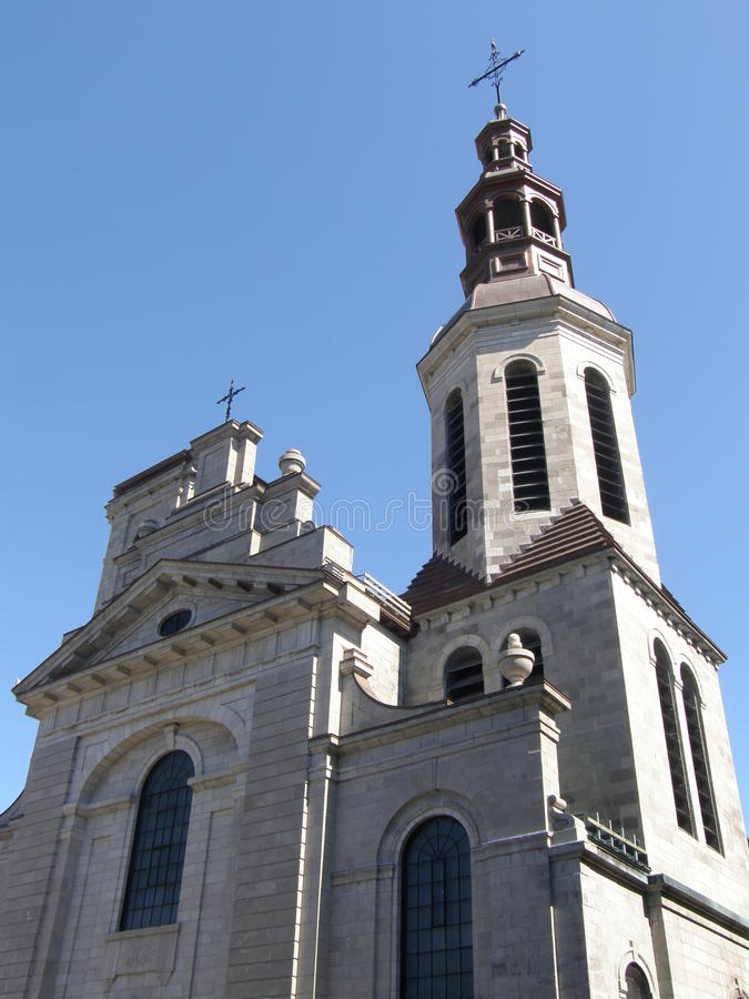 Church in Quebec City royalty free stock photo