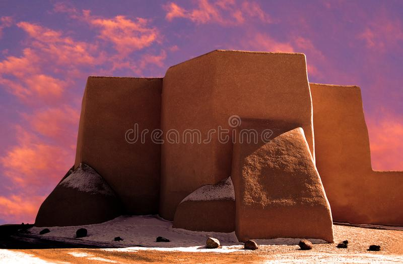 Church at Rancho de Taos. San Francisco de Asis Mission Church has inspired many artists and photographers throughout the years. Located in Ranchos de Taos stock photography