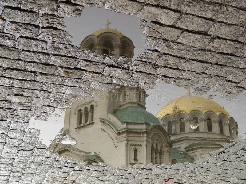 Church reflection royalty free stock images