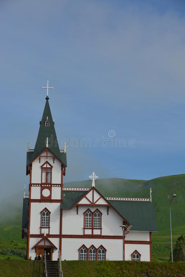 Church in Reikjavik, capital of Iceland stock image