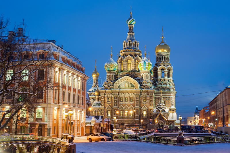 Church of the Resurrection of Christ (Savior on Spilled Blood), St. Petersburg, Russia royalty free stock photography