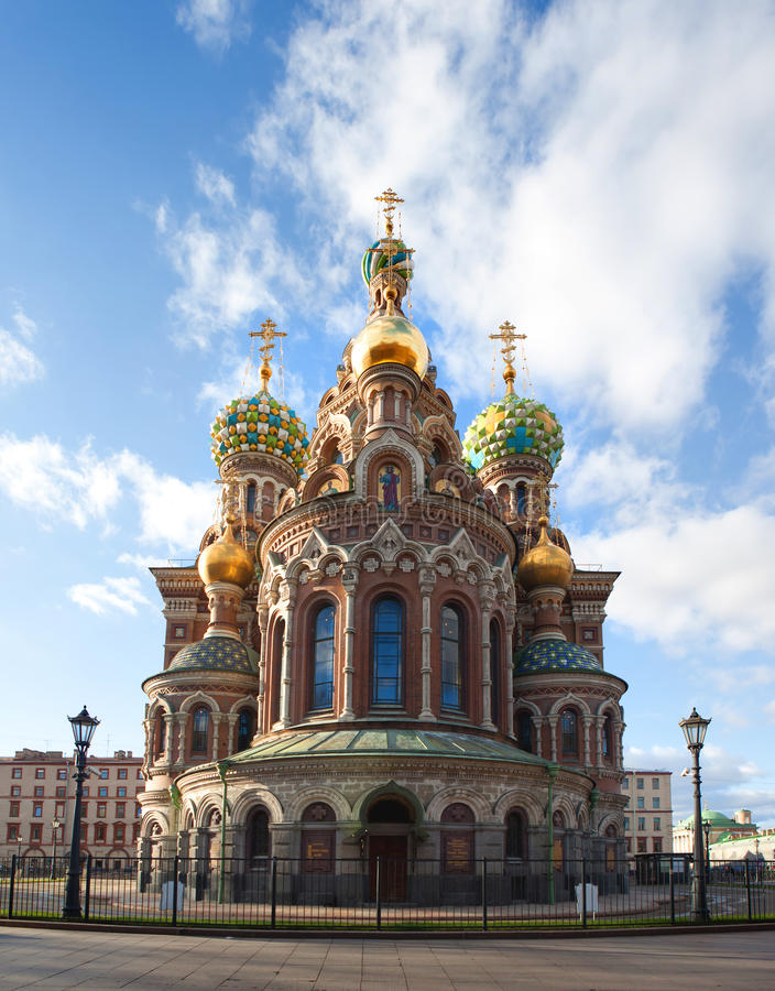 Church of the Resurrection Jesus Christ at St Petersburg, Russia royalty free stock photography