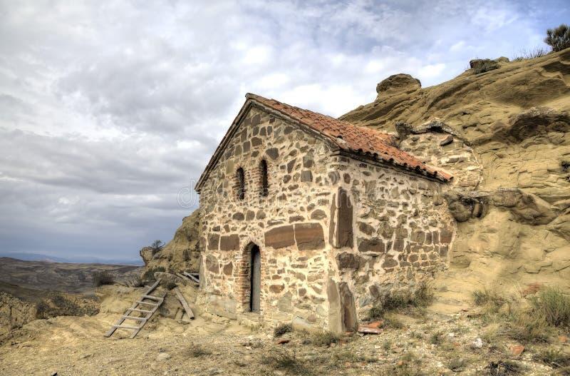 Church of the Resurrection. Monastery Udabno. Kakheti. Georgia stock images