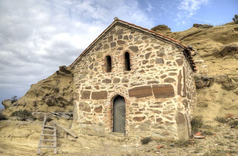 Church of the Resurrection. Monastery Udabno. Kakheti. Georgia stock photography
