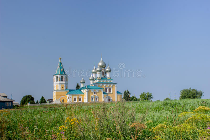 Church of the Resurrection, Russia ,Arkhangelsk, village royalty free stock photo