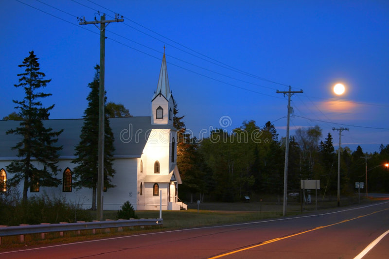 Church On The Road Side royalty free stock images
