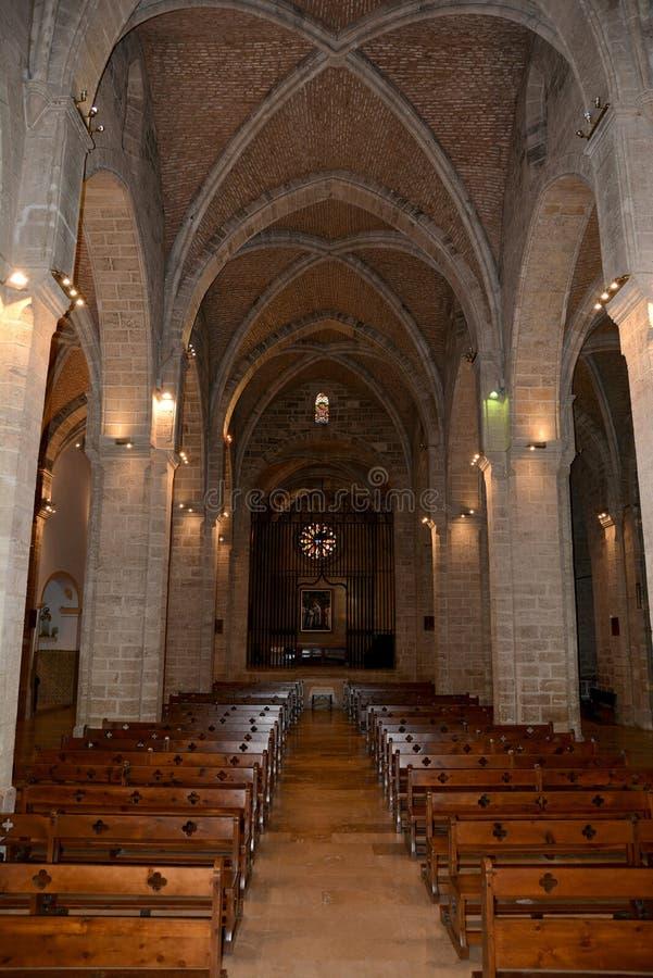 Church of Royal Monastery of Saint Mary of El Puig royalty free stock photos