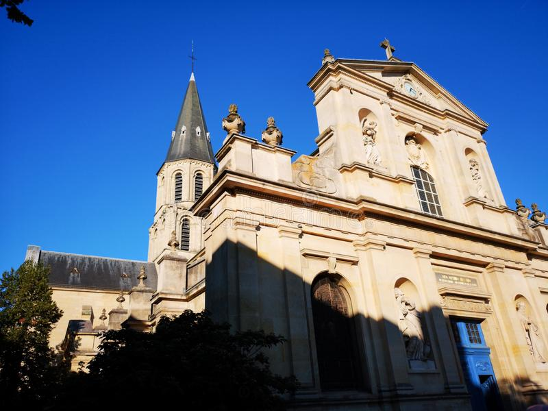 Church of Rueil Malmaison city. In France royalty free stock photography