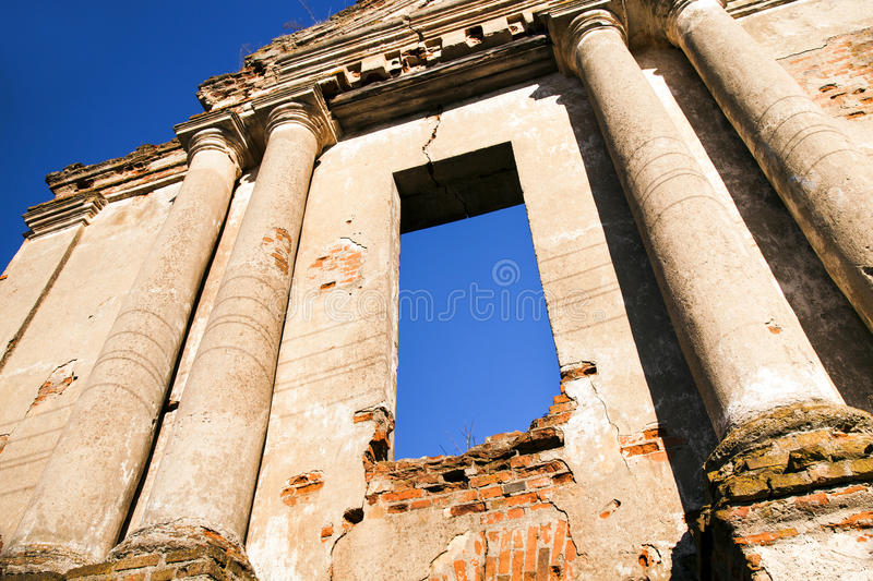 Church ruins. Ruins of the ancient church located in the city of Oshmiany, Belarus royalty free stock images