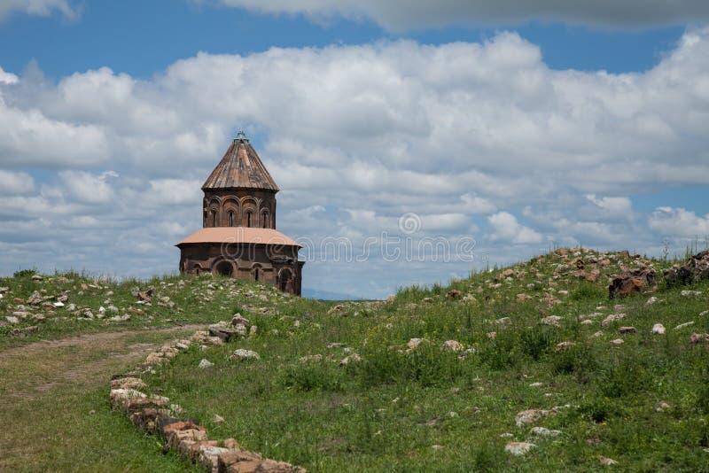 Church ruins, ani, turkey. Ruins of a church in the ancient armenian capital city of ani located near kars, turkey stock image