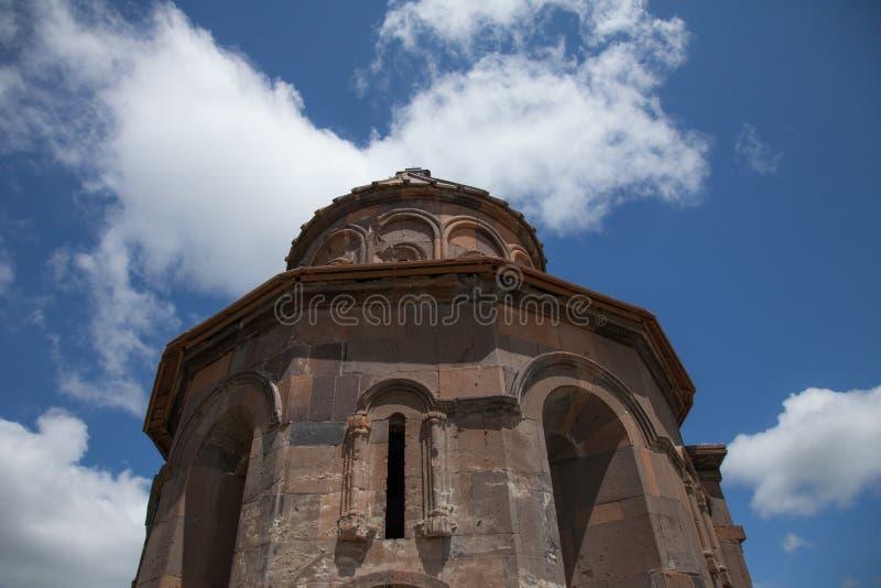 Church ruins, ani, turkey. Ruins of a church in the ancient armenian capital city of ani located near kars, turkey stock images