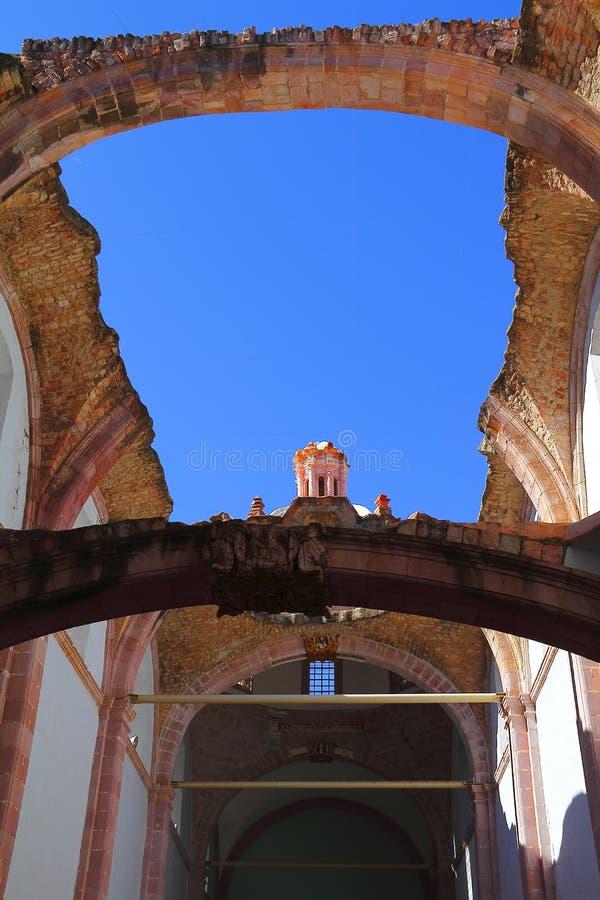 Church in ruins III royalty free stock image