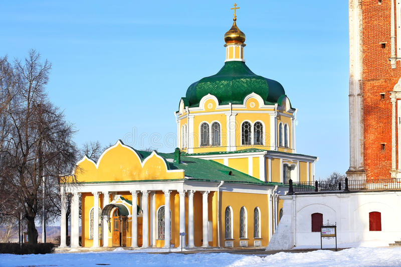 Church in Ryazan. Current Orthodox Church of the seventeenth century royalty free stock photos