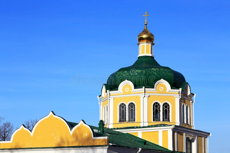 Church in Ryazan. Current Orthodox Church of the seventeenth century royalty free stock images