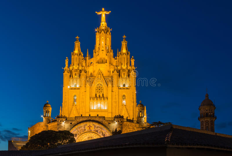 Church of the Sacred heart of Jesus in Barcelona. In Spain royalty free stock photos