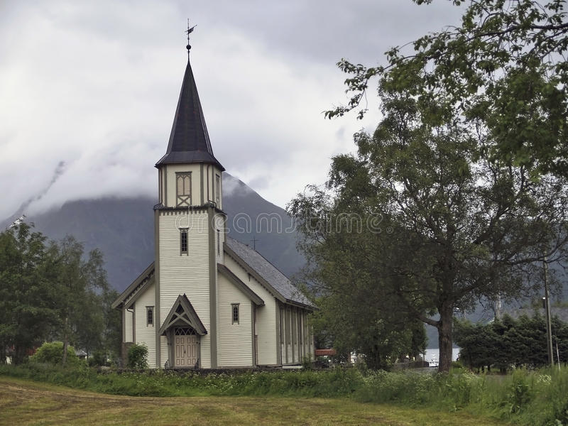 Church in saebo, Norway stock photos