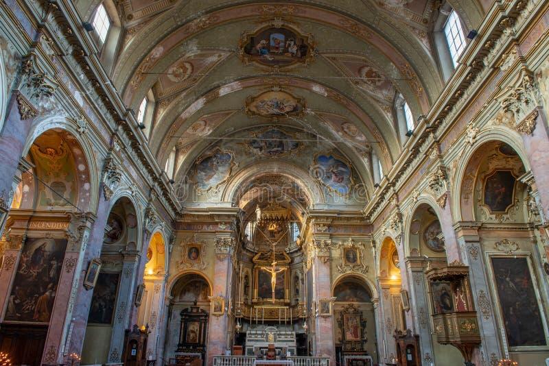 Church of S. Agata Bergamo stock image