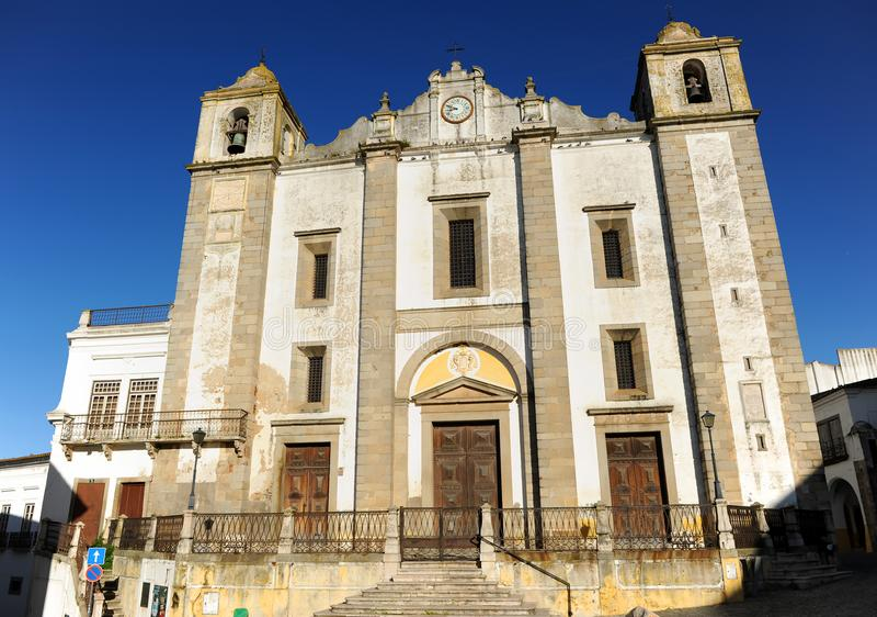 Church of Saint Anthony Abbot in Evora, Alentejo, Portugal royalty free stock photos