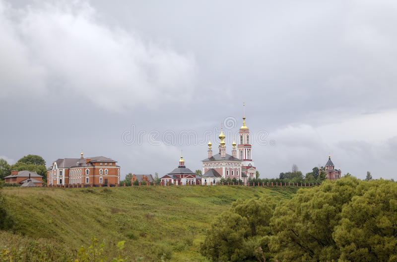 Church of Saint Archangel Michael, Church of Saint Frol and Pavel and Church of Saint Alexander Nevskiy. royalty free stock images