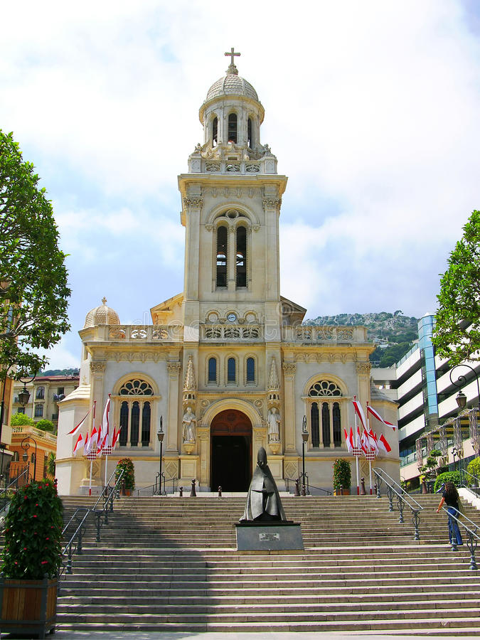 Church of Saint Charles, Monaco royalty free stock images