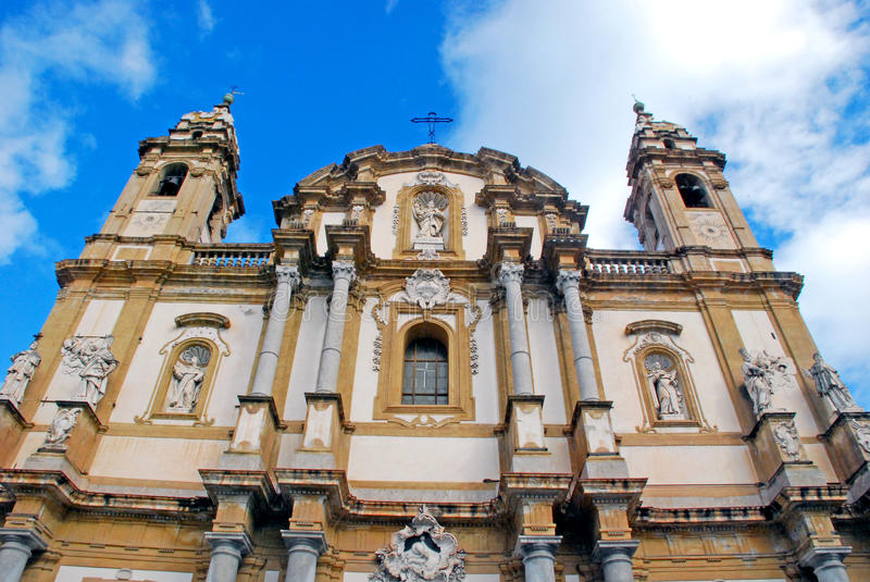 Church of Saint Dominic, Palermo royalty free stock photo
