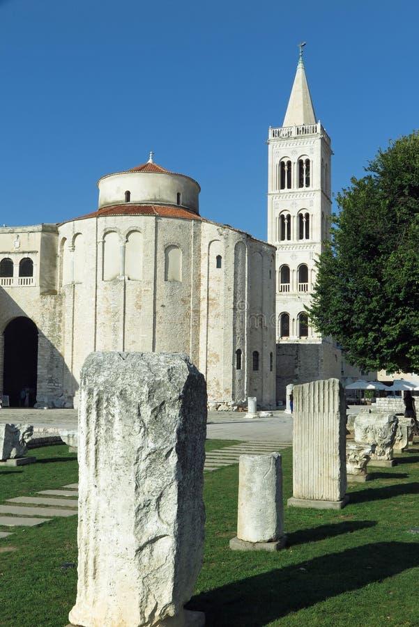 Church of Saint Donatus, Zadar, Croatia stock photo