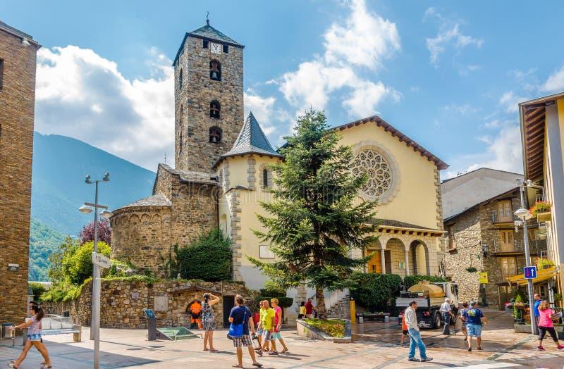 Church of Saint Esteve in Andorra la Vella royalty free stock photography
