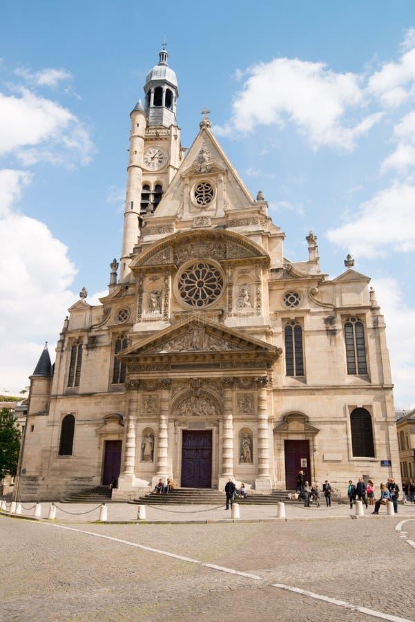 Church Saint Etienne du Mont in Quartier Latin royalty free stock photo