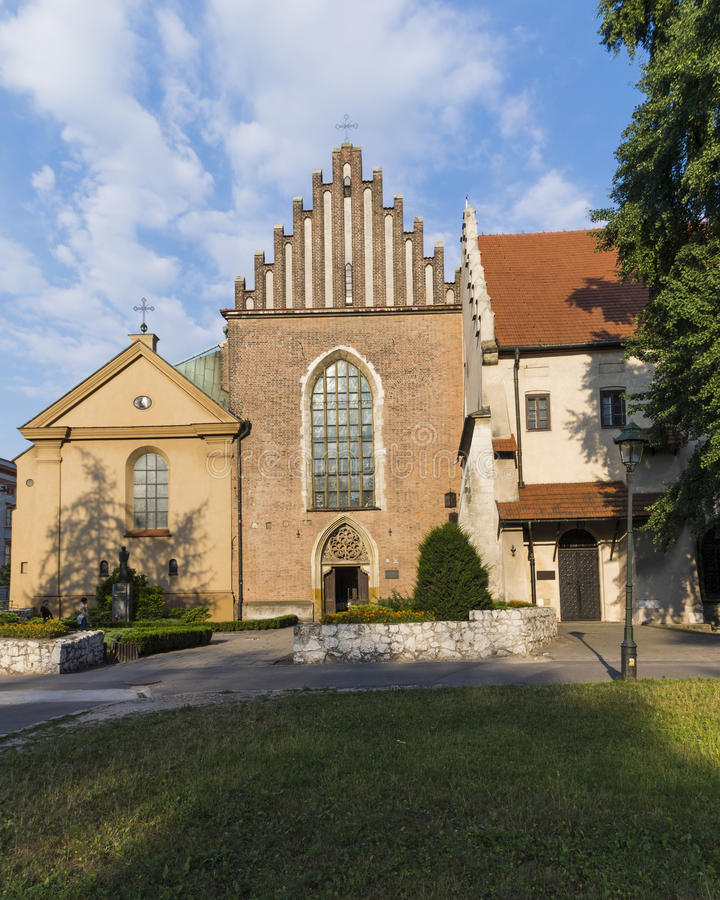 The Church of Saint Francis of Assisi in Krakow stock images