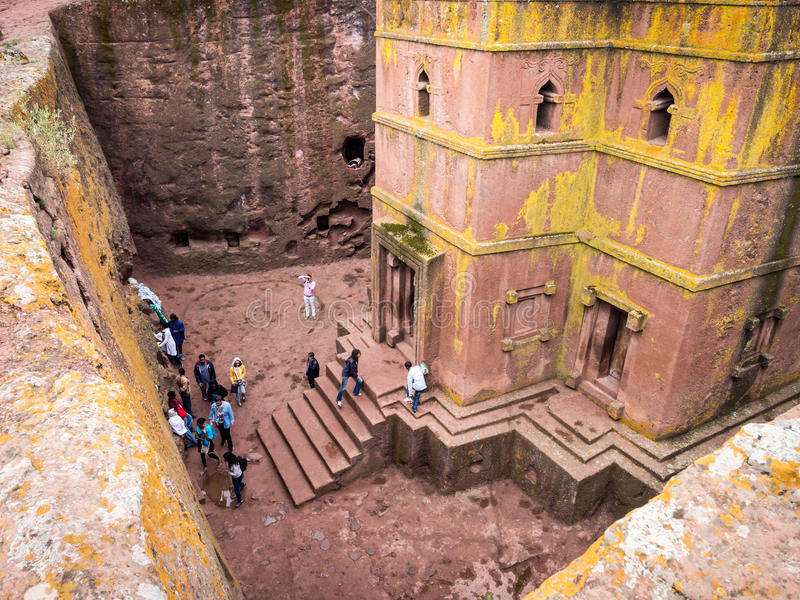Church of Saint George, Lalibela, Ethiopia royalty free stock photography