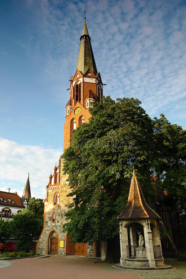 Church of Saint George in Sopot, Poland. Photo taken on: July 14, 2009 stock image