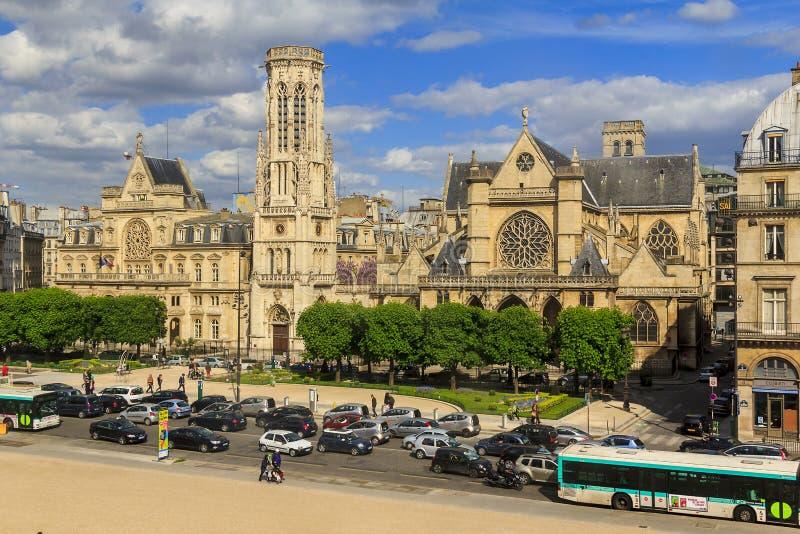 Church of Saint-Germain l'Auxerrois in Paris stock photo