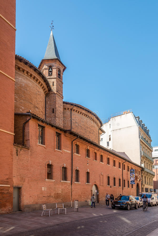 Church of Saint Jerome in Toulouse stock images