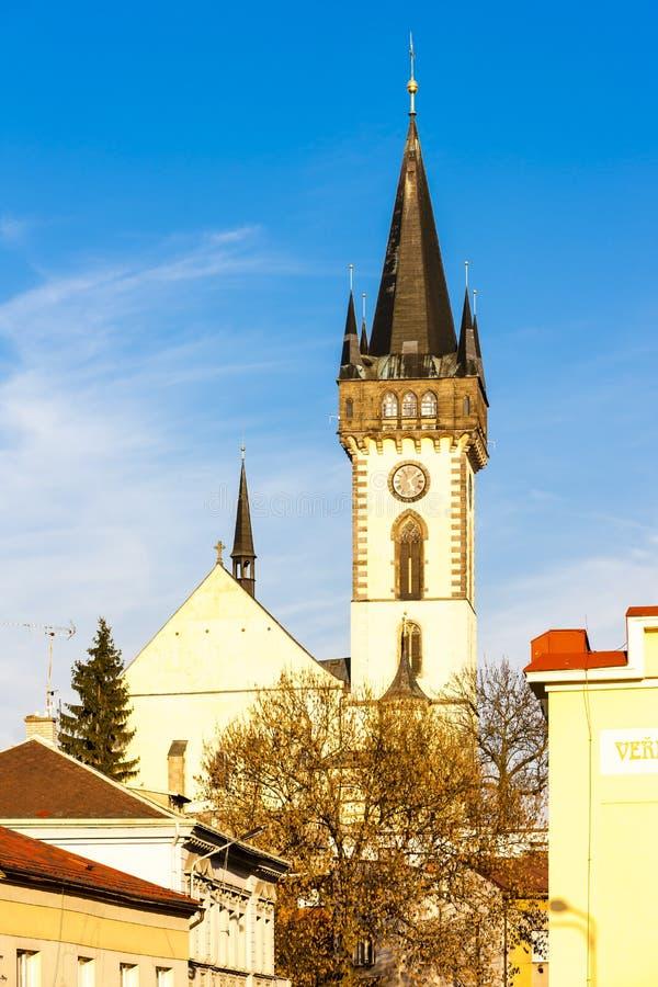 The Church of Saint John the Baptist, Dvur Kralove nad Labem, Cz. Ech Republic royalty free stock image