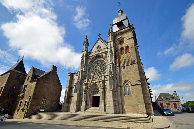 Church of Saint-Leonard stock photo