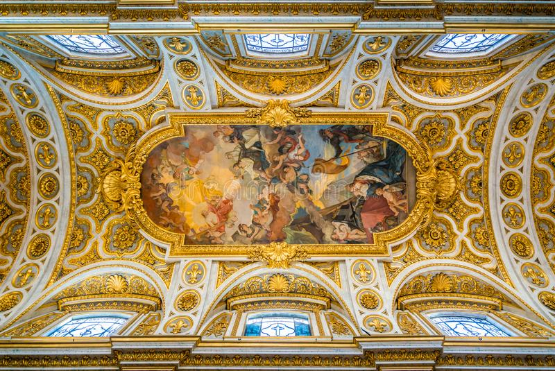 Church of Saint Louis of the French in Rome, Italy. stock photography