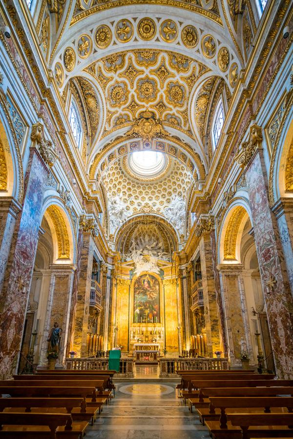 Church of Saint Louis of the French in Rome, Italy. stock image