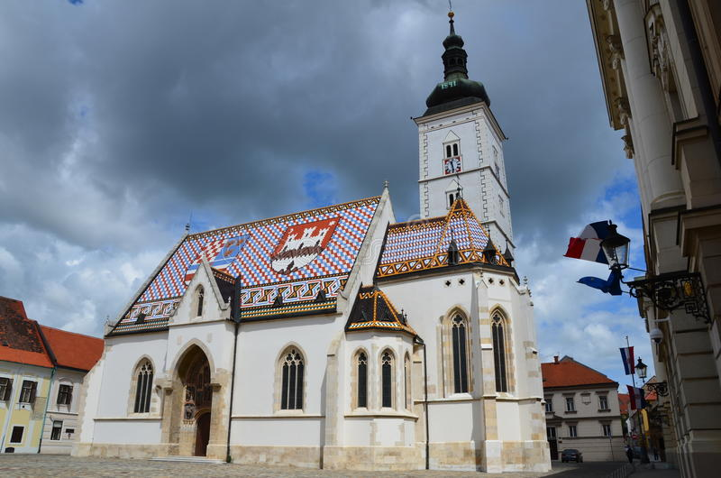 Church of Saint Mark stock photo