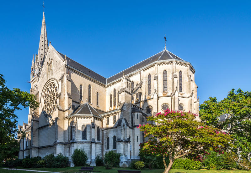 Church of Saint Martin in Pau - France royalty free stock images