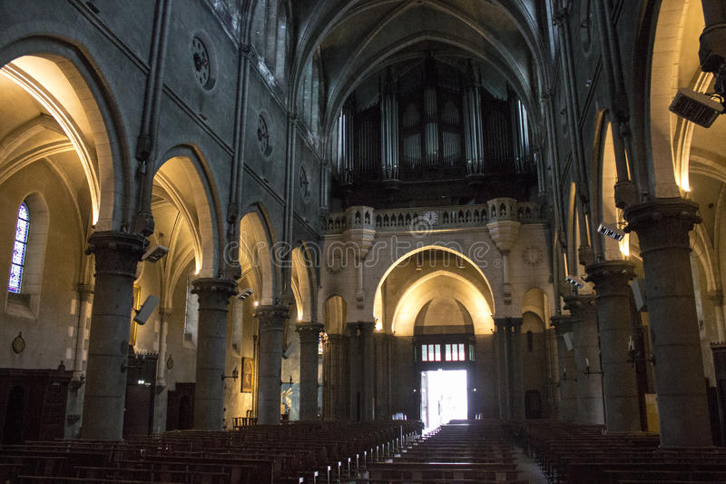 Church of Saint-Martin, Pau, France royalty free stock photos