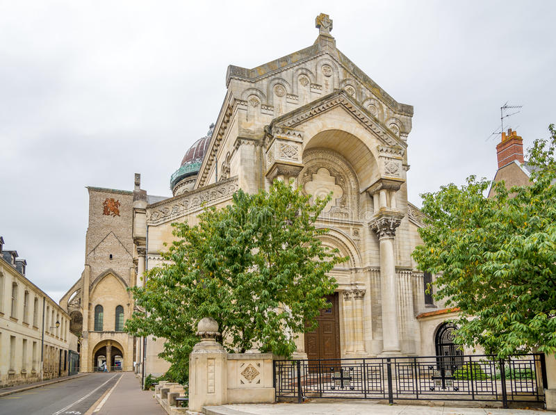 Church Saint-Martin in Tours royalty free stock image