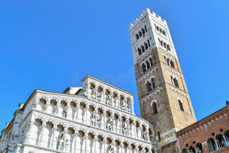 Church of Saint Martino of Lucca in Tuscany royalty free stock photography