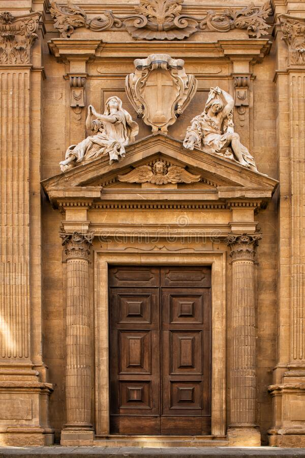 Church of Saint Michael Florence stock photo