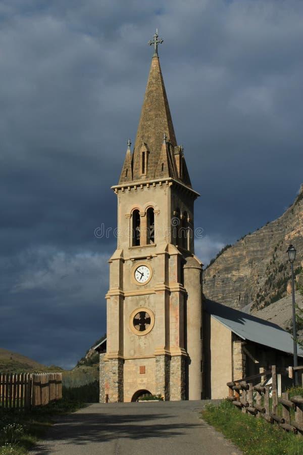 Church Saint Michel Saint Mammes, Cervieres, Alps, France Royalty Free Stock Images