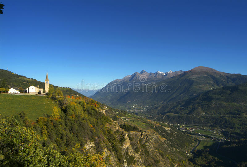 Download The Church Of Saint Nicolas In Aosta Valley Stock Image - Image: 13572031