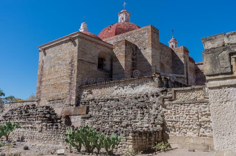 Church of Saint Paul in Mitla, Oaxaca, Mexico. Church of Saint Paul Iglesia de san Pablo in Mitla, Oaxaca, Mexico royalty free stock photo